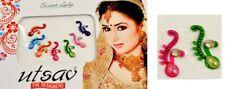 Indian Traditional Bollywood Forehead Tikka Crystals Bindi Tattoos 7 Nos (KB721)