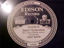 "EDISON RECORD 10"" # 52036 EDNA WHITE THEN YOU'LL REMEMBER ME/SWEET GENEVIEVE"