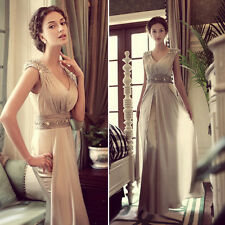 Vintage Mother Long Prom Dresses Bridesmaid Wedding Formal Evening Party Dresses