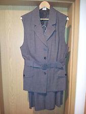 Damenkombination 2-tlg. Blazer und kurze Hose Gr. 42/44, braun-meliert
