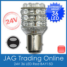 24V 36-LED BAY15D RED 1157 STOP/TAIL GLOBE - Truck/Trailer/Automotive Light Bulb