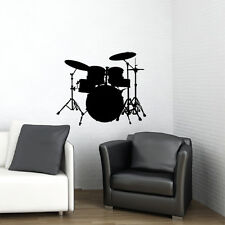 BIG DRUM SET -VINYL WALL DECAL STICKER ART -HOME DECOR