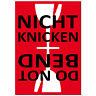 Aufkleber Sticker Etiketten Label NICHT KNICKEN Hinweis Versand Umzug Paket
