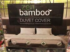 Zen Bamboo Ultra Soft 3-Piece Rayon Derived From Bamboo Duvet Cover Set -Dk Gray