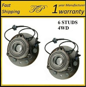 FRONT Wheel Hub Bearing Assembly For AVALANCHE/SILVERADO 1500 4WD 2007-2013 PAIR