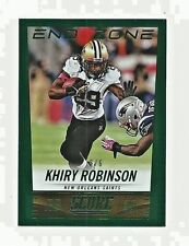 Khiry Robinson New Orleans Saints 2014 Score Football End Zone Card 2/6