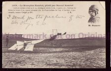 PPC Le Monoplane Hanriot pilot Marcel Hanriot 1910