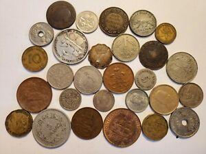 World coin lot silver copper bronze brass mixed 1875 1893 1898 + more  Rare ?