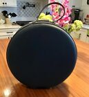 """VINTAGE AMERICAN TOURISTER TIARA BLUE MCM ROUND HAT BOX CARRY ON LUGGAGE 18"""""""