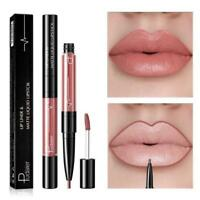 16 Color Double Ended Matte Long-lasting Lipgloss Liquid Lipstick with Lipliner