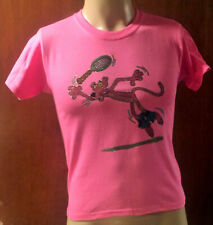 Vintage T-Shirt Heat Transfer (The Pink Panther Playing Tennis) New Youth Small