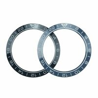 41.5mm bezel insert for diver's watch sea master style black/blue ceramic lume