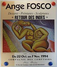 Affiche ancienne Ange FOSCO expose à Aix en Provence /14PB
