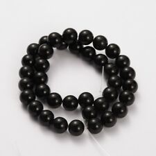 Natural Black Obsidian 6mm Loose Beads Round