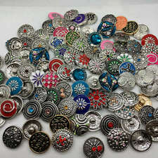 10pcs Mix Styles Snap Buttons 18mm Ginger Jewelry Interchangeable Chunk Charms