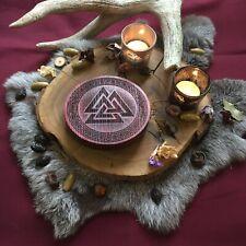 Walknut altar / Witchcraft Asatru Ritual Divination Tools Wicca Swastika Wotan
