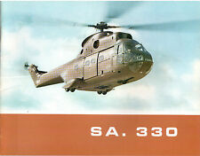 SUD AVIATION SA 330 HELICOPTER MANUFACTURERS SALES BROCHURE