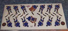 Coleco hockey team Sticker Sheet St Louis Blues 1980's -90's table hockey