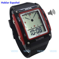 Spanish Talking Watch for the Blind and Elderly Electronic Digital Sports Watch