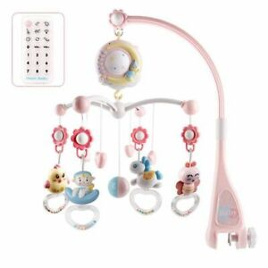 Hanging Doll Crib Mobiles Toy Holder Rotating Baby Rattles Toy Mobile Bed Bell