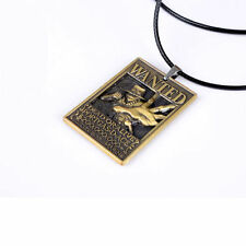 New One Piece Wanted Necklace Ace Wanted Cosplay Pendant Necklace