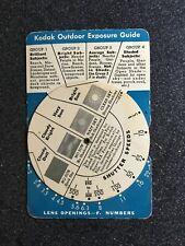 Vintage Kodak Outdoor Exposure Guide