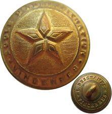 Bouton bombé métal doré pour l'Ecole d'Administration de Vincennes, à l'étoile