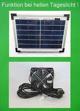 10 W Solarlüfter Gewächshaus Lüfter Solar Belüfter Solarventilator Belüftung NEU