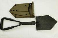 """US Military Surplus Folding Entrenching Tool with New """"ALICE"""" Vinyl Shovel Cover"""