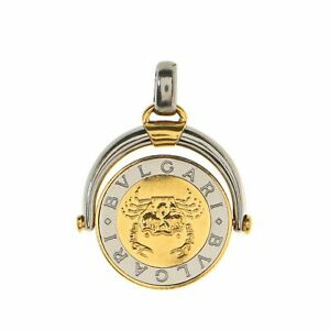 Bvlgari Horoscope Pendant Charm Pendant & Charms 18K Yellow Gold and Stainless