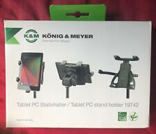 K&M Tablet PC Mic Stand Holder iPad Universal Mount