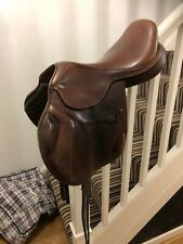 """17.5/"""" Self Adjusting modifiable Gosier synthétique General Purpose Saddle 16/"""" 17/"""""""