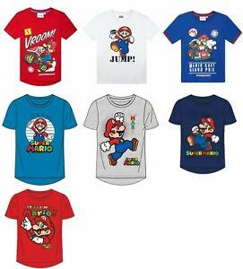 Super Mario t-shirt short sleeve top crew neck cotton summer boys kids