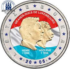 Luxemburg 2 Euro Gedenkmünze 2005 bfr. Henry & Adolphe in Farbe