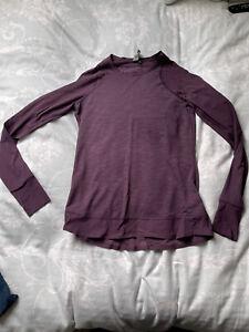 Sweaty Betty Breeze Long Sleeve Running Top Size XS Purple