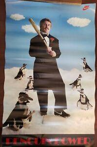 """VINTAGE SPORTS POSTER~Ron Cey Nike 1980's Penguin Power 22x34"""" LA Dodgers Rare~"""
