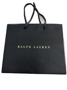 """Ralph Lauren Black Blue Gold Gift Bag Paper Shopping 8"""" X 9.5"""""""