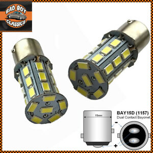 LED Stop Brake Tail Light Bulbs White Fits CLASSIC MINI X2