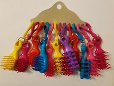 Wholesale Lot of 12 Vtg 90's Mini Girl Doll Hairbrushes Backpack Purse Clip-Ons