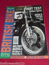 BRITISH BIKE - MILITARY MARVELS - April 1993 #67