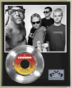 """Offspring """"Pretty Fly For A White Guy"""" Silver Record Display Wood Plaque"""