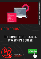 The Complete Full-Stack JavaScript Course! video course training tutorial guide