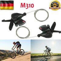 Fahrrad Schalthebel Set Altus SL-M 310 für 3 x 8-fach 24 Gang Schaltung Schwarz
