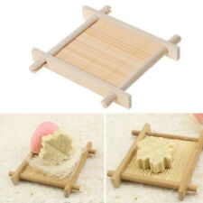 Wooden Bamboo Soap Dish Tray Holder Storage Soap Rack Plate Box Container KKQY@M