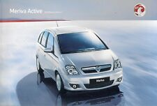 Vauxhall Meriva Active & Active Plus Limited Edition 2009-10 UK Market Brochure