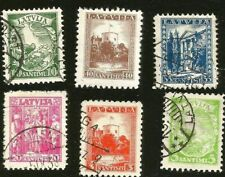 LATVIA LANDMARKS STAMPS FROM 1934 RIGA CASTLE LATVIA ALLEGORY MINISTRY OF FOREIG