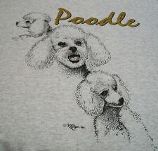 "Miniature Poodle T-shirt "" White "" Sm ( 34 ~ 36 )"
