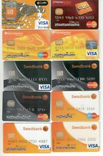Lithuania 11 bank credit debit cards collection Lithuanian banks