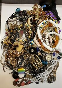 5lbs Vintage Antique Jewelry Lot Broken Wearable Mismatched Crafts
