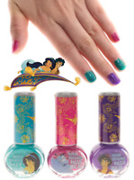 Disney Aladdin Princess Jasmine Genie 3 pc Nail Polish Set & Collectible Tin NIB